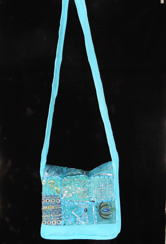 Flap Bag - Black sequined