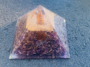 Orgonite Pyramid - Amethyst (Extra Large)