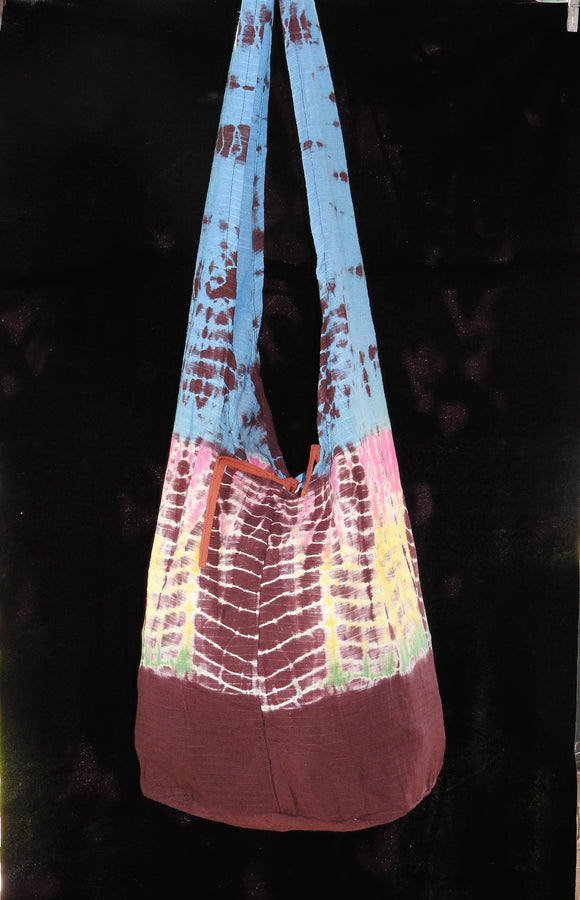 Sling Bag -Tie Dyed Brown/Blue