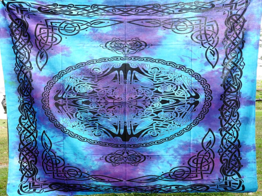 Celtic Web of Life - Blue and Purple