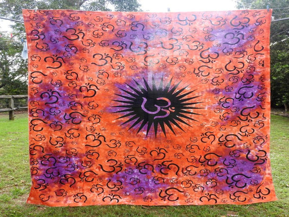Tie Dyed Om - Purple/Orange