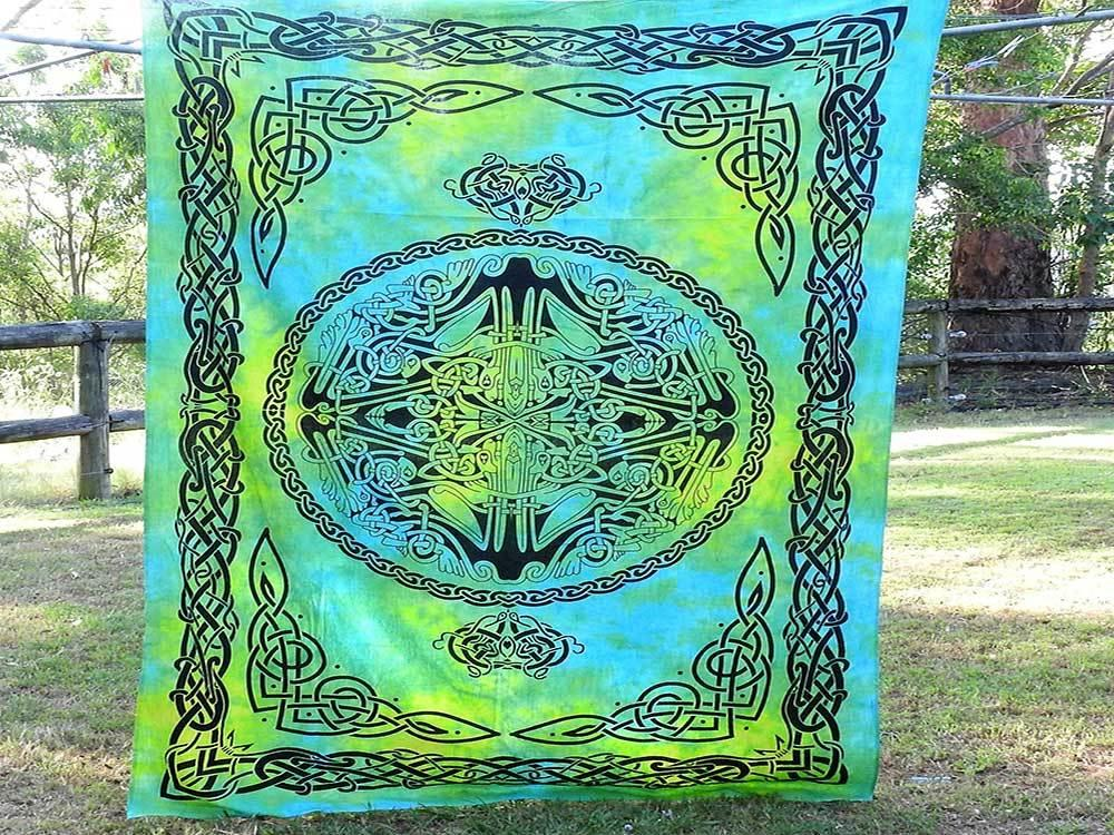 Tie Dyed Celtic Design