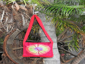 Flap Bag -Tie Dyed Red