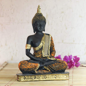Sitting Buddha Idol Statue Showpiece - in Multi assorted beautiful colours - GreentouchCrafts