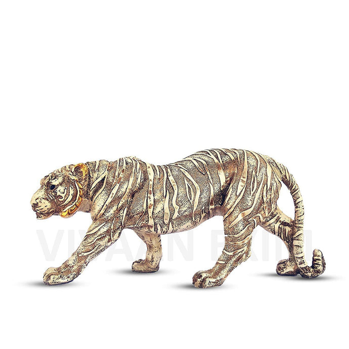 Polyresin Tiger Statue for Home Decor , Showpiece Antique Finish for decoration - GreentouchCrafts
