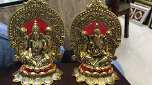 Laxmi Ganesh Set Idol Showpiece - Metal Gold Plated colour Lakshmi Ganesha Idols for Diwali Gifts Puja - GreentouchCrafts