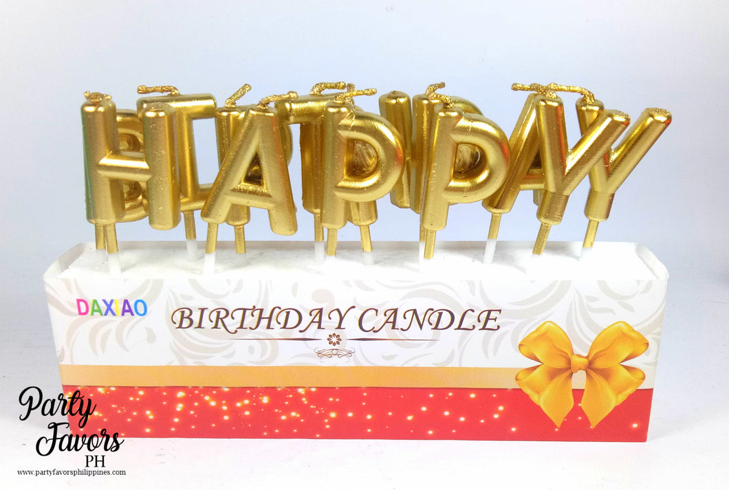 Happy birthday GOLD candles