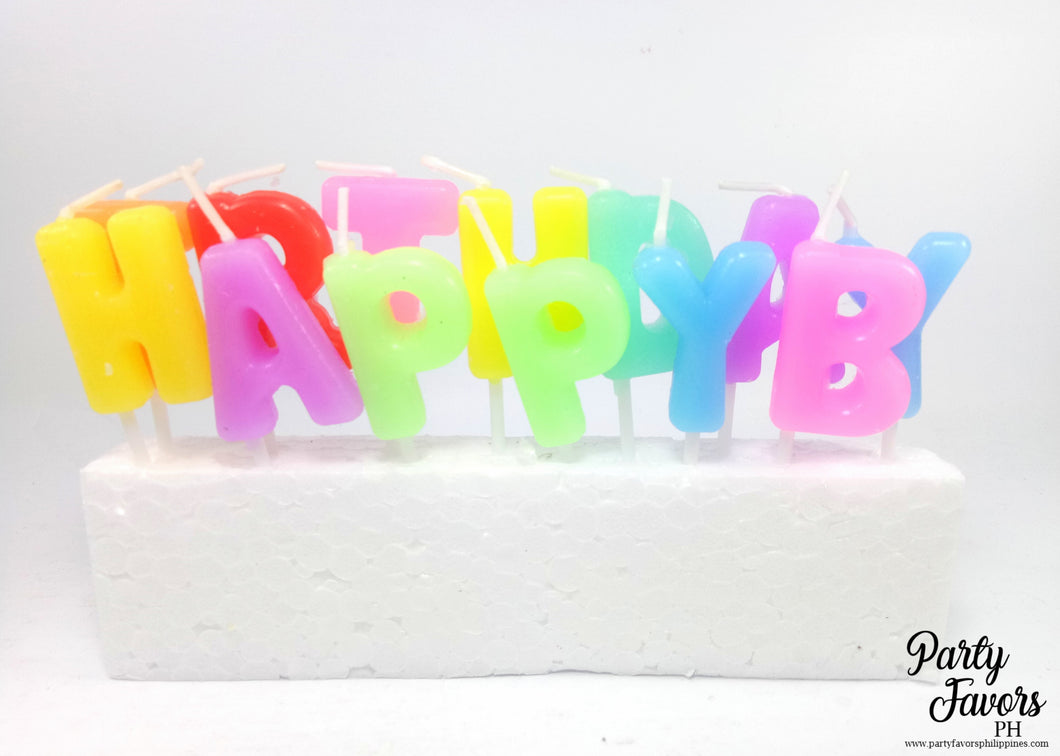 Happy birthday candle - assorted  colors