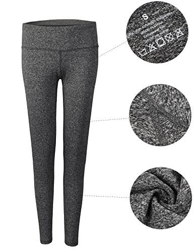 Dark Gray Women's Yoga Pants, Middle Waist for workout and running