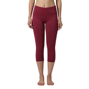 Seven Points Red Color Yoga Pants Tights High Elastic Gym Trousers For Sportswear Running