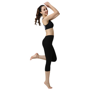 Seven Points Black Color Yoga Pants Tights High Elastic Gym Trousers For Sportswear Running