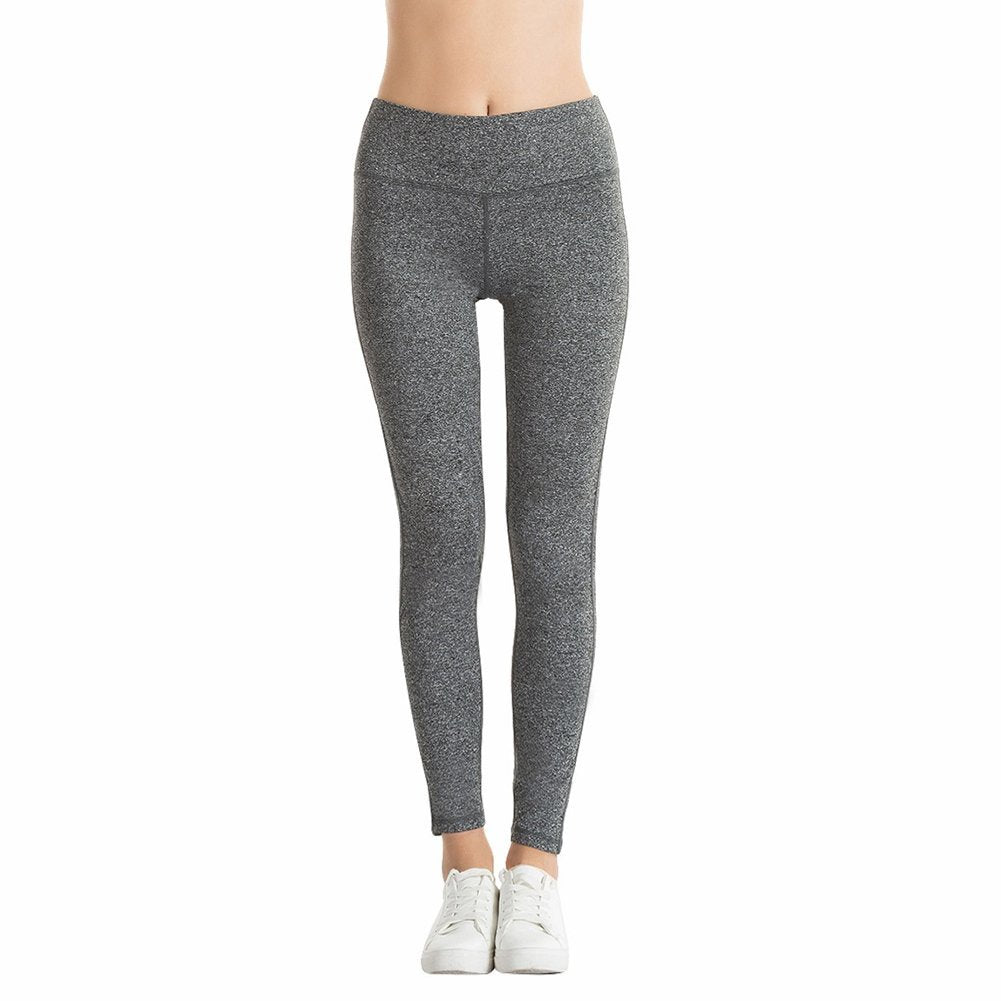 Light Gray Woman, middle waist, tummy control, Yoga Pants