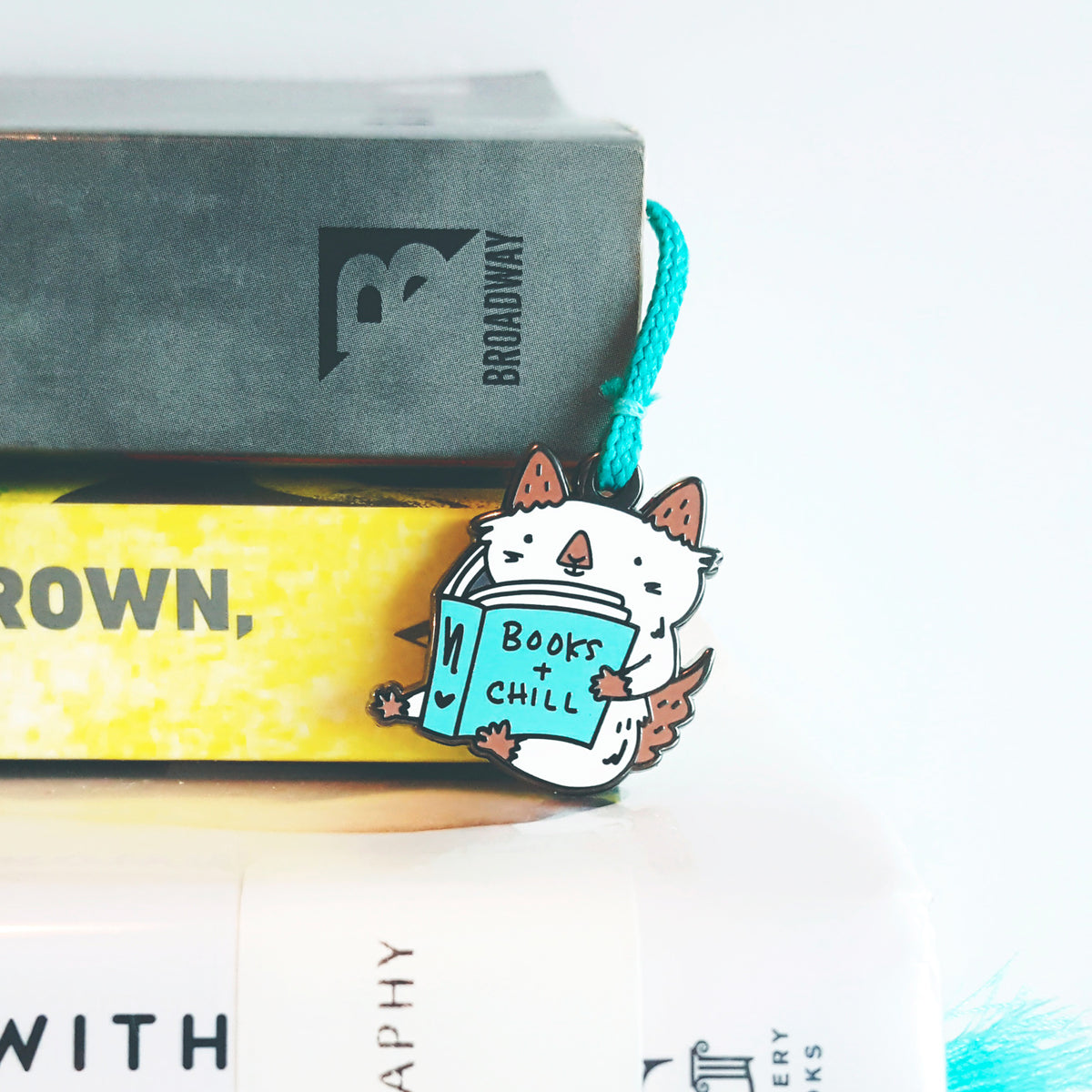 Books + Chill ~ Enamel charm and tassel cat bookmark by My Cat Is People. #booksandchill