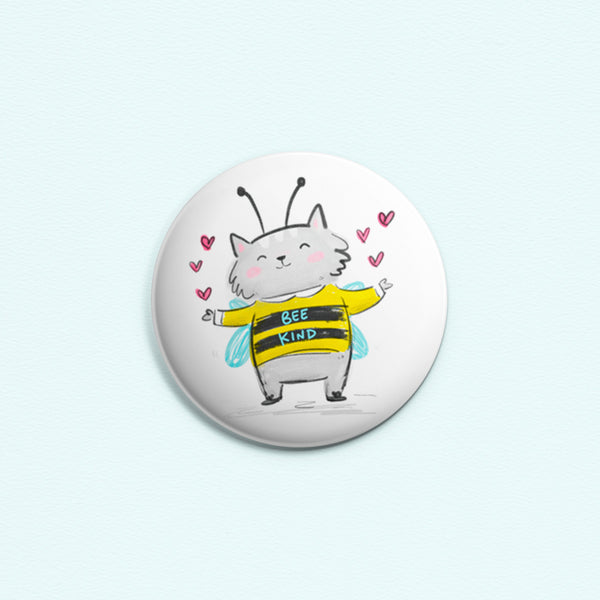 Bee Kind ~ Button or Magnet