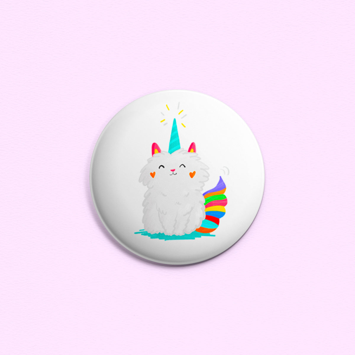 Mewnicorn ~ Button or Magnet