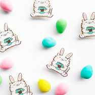 Kitty Bunny - Spring Easter enamel pin by My Cat Is People