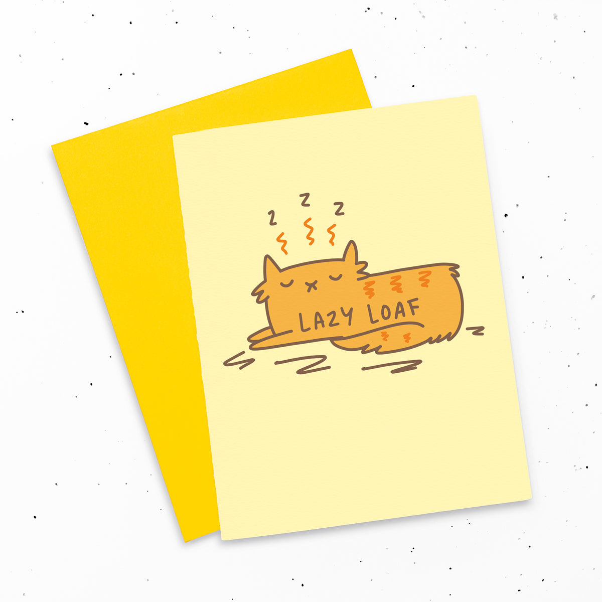 Lazy Loaf - Sleepy cat greeting card by My Cat Is People