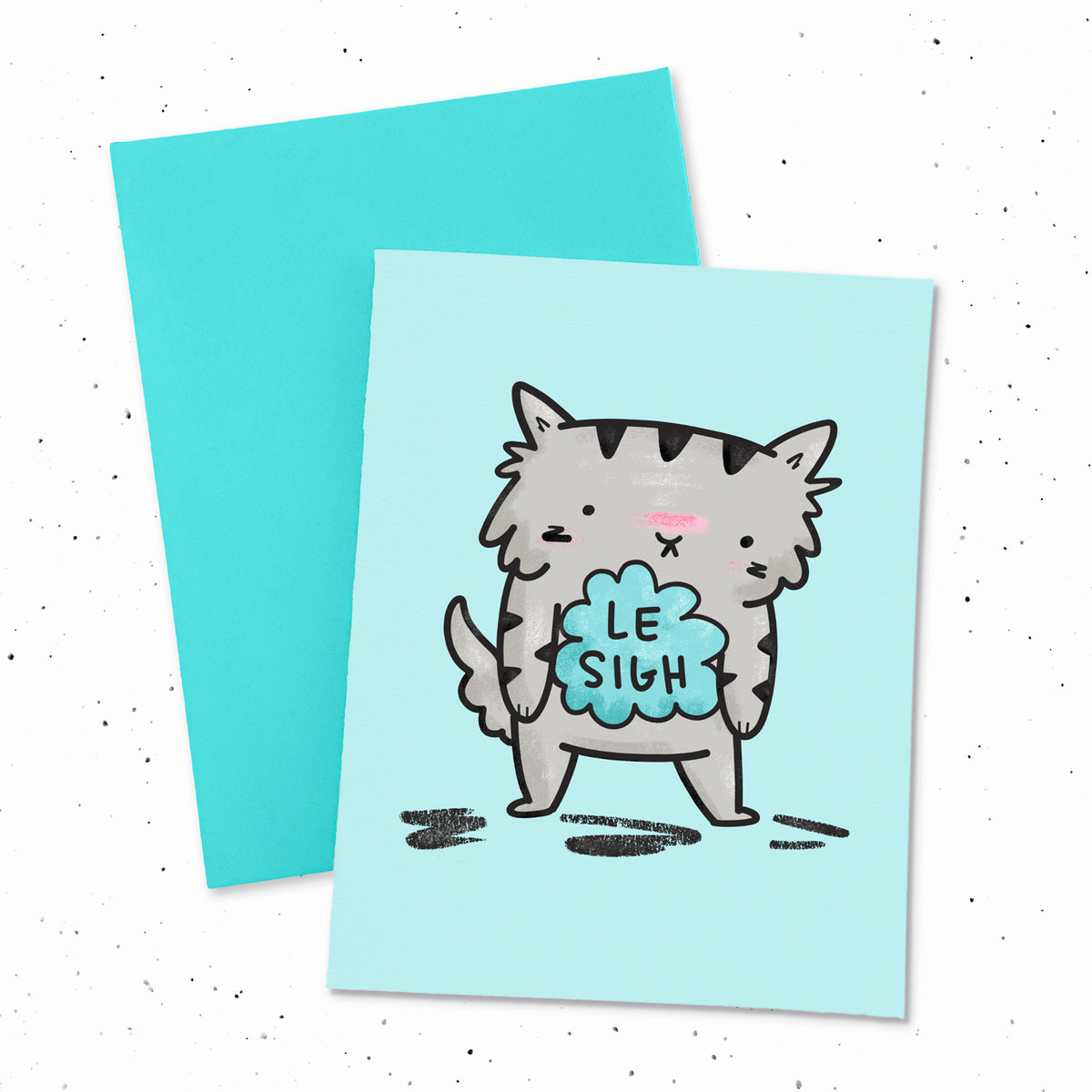 Le Sigh - Sympathy greeting card by My Cat Is People