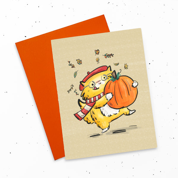 Pumpkin Cat - Card