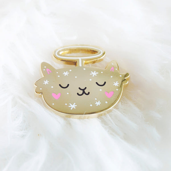 Angel Kitty - Cat enamel pin by My Cat Is People