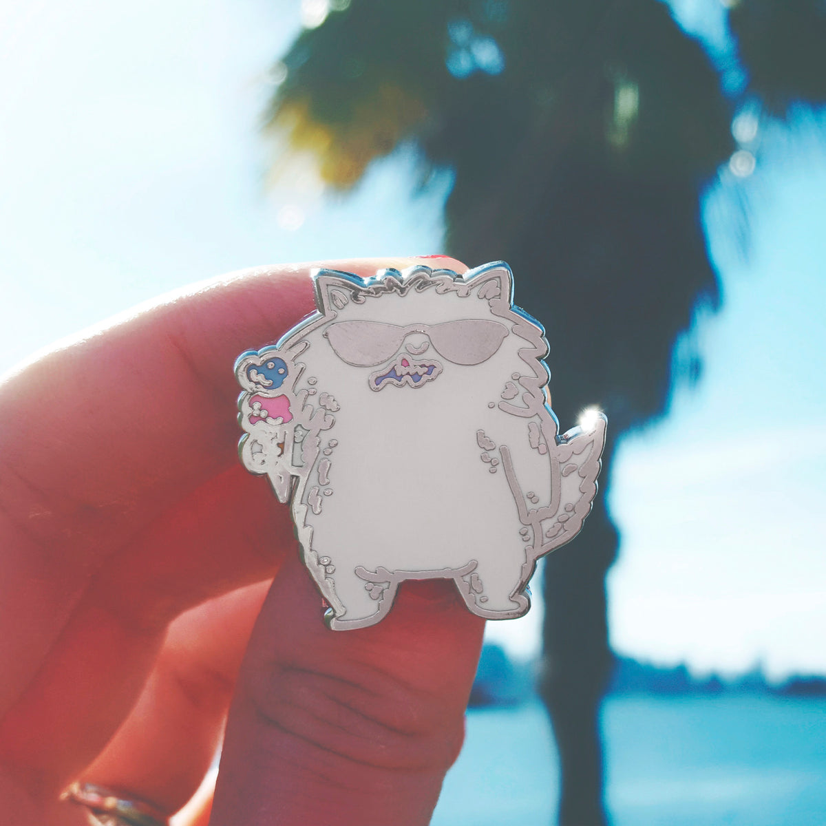 Ice Cream Cat ~ Enamel Pin