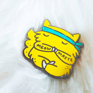 Meowmaste - Yoga and meditation cat enamel pin by My Cat Is People