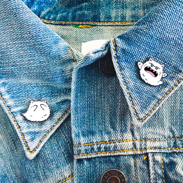 Kitty Boo Boo Buddies ~ Set of 2 Enamel Pins