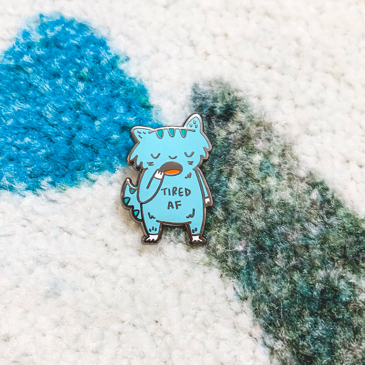 Tired AF ~ Sleepy cat enamel pin my My Cat Is People