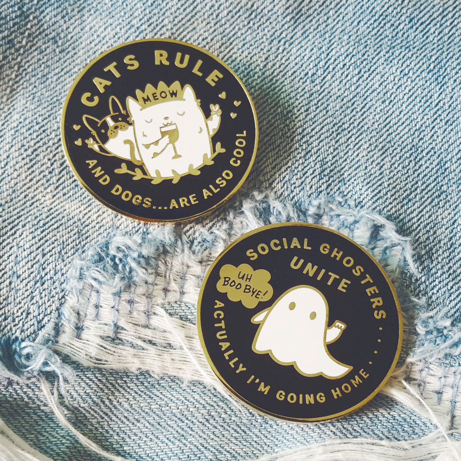 Cats Rule And Dogs   Are Also Cool ~ Enamel Pin | My Cat Is