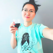 Mild And Free - Screen printed unisex teal t-shirt by My Cat Is People. Cats, books, pizza and wine.