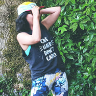 Cat Hair Don't Care! - Screen printed muscle tank top for people who love and live with cats.
