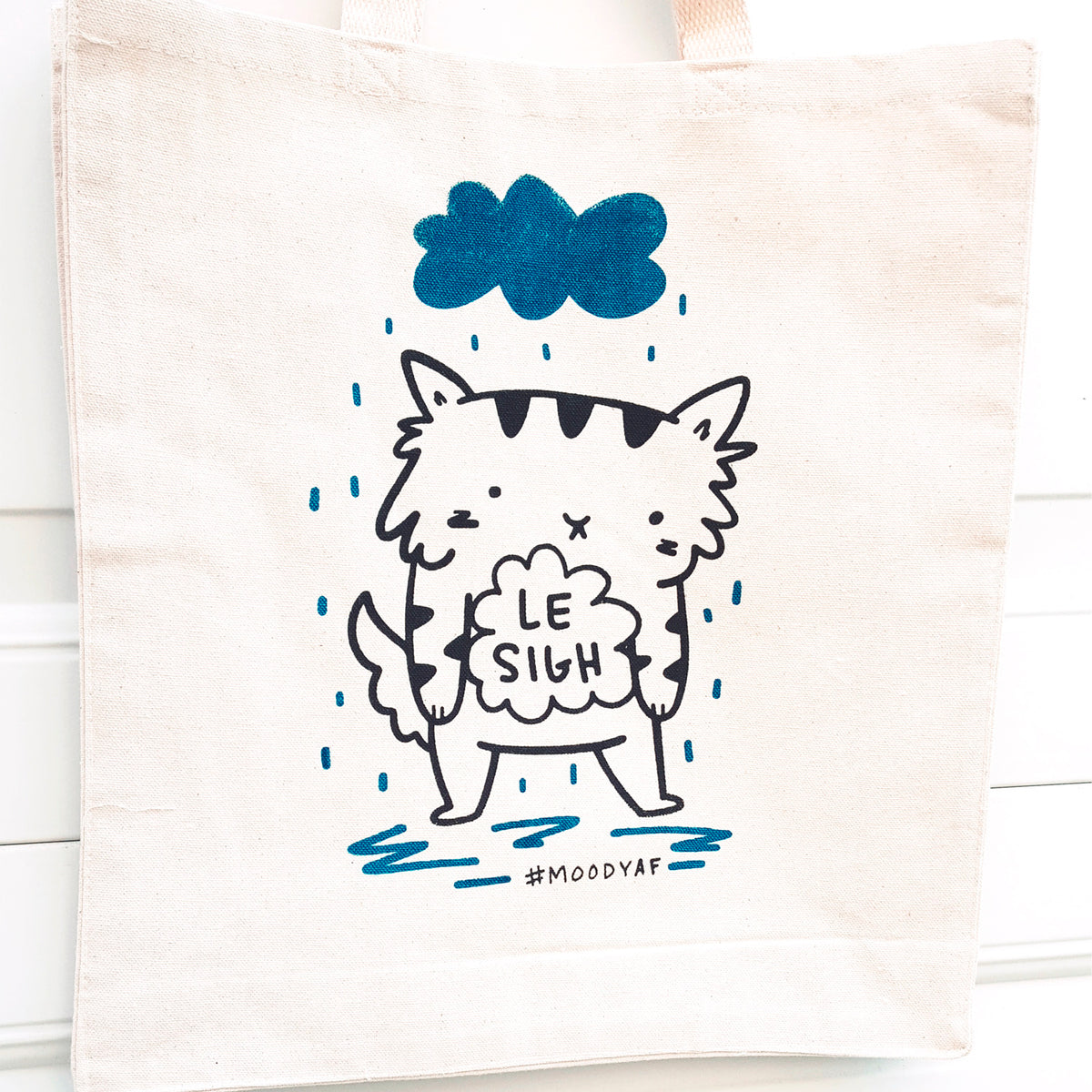 Le Sigh - Screen printed tote bag with gusset