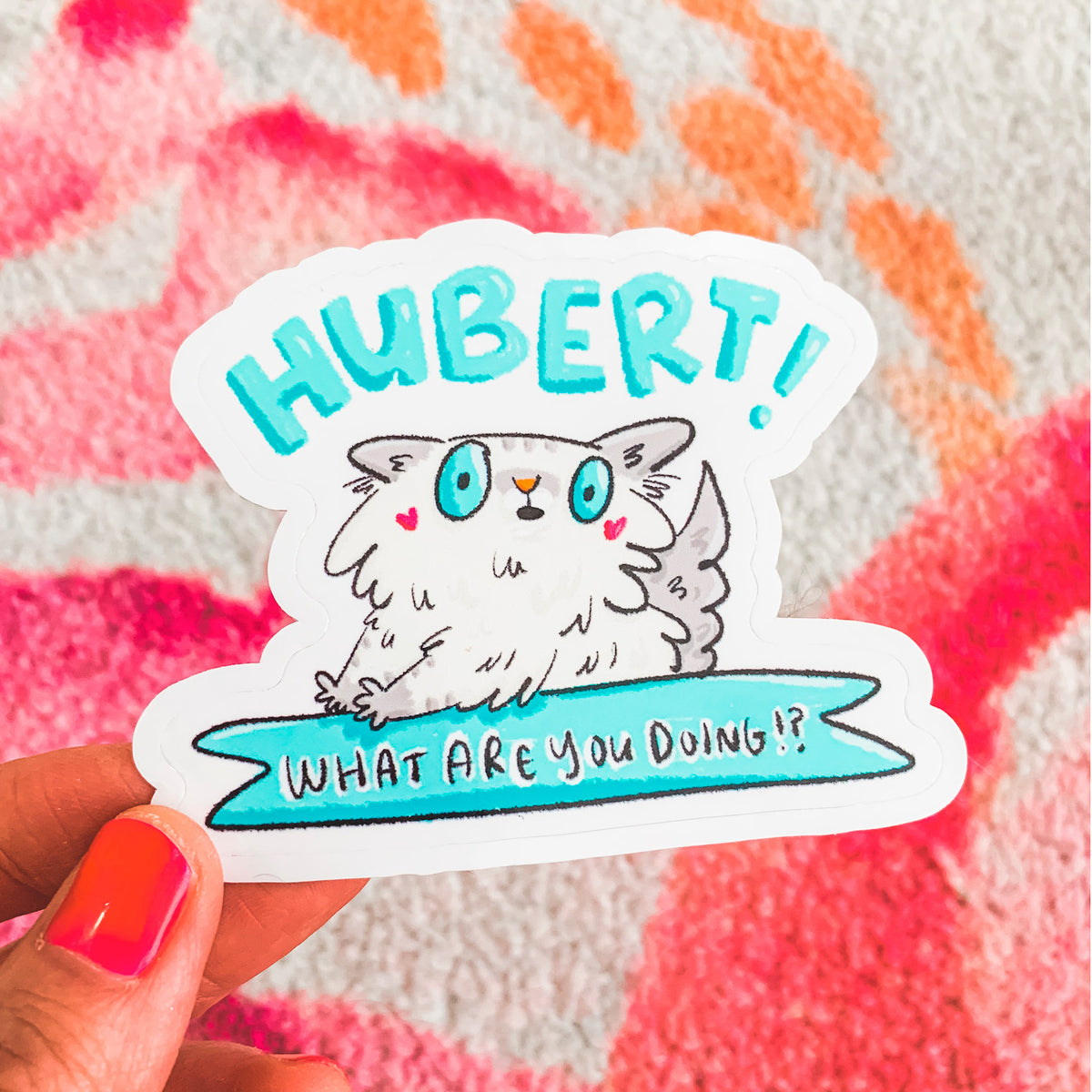 Hubert! ~ Custom vinyl die-cut cat stickers by My Cat Is People