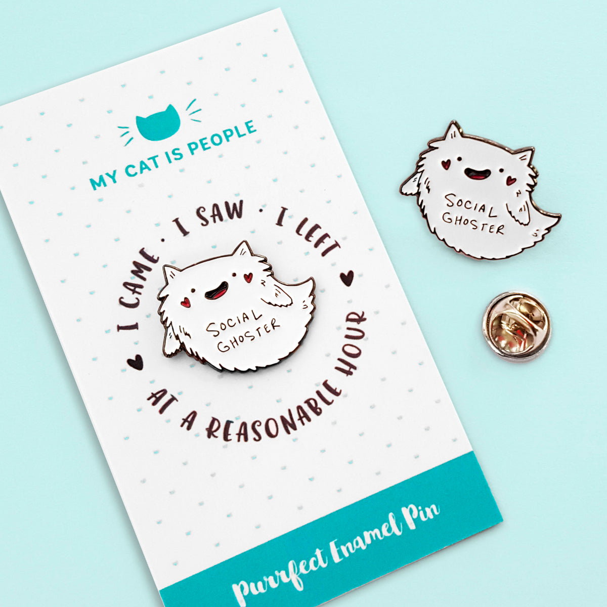 Social Ghoster ~ Enamel Pin