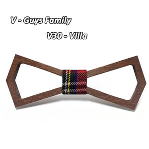 Vintage Hollow Wooden Bow Tie