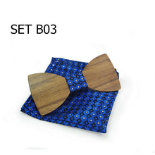 Classic Wooden Bow Tie Set