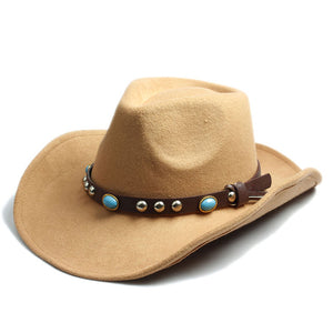 Wool Felt Sombrero Cap with Leather Band