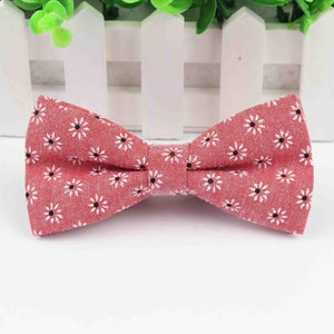 Floral Pattern Bow Tie