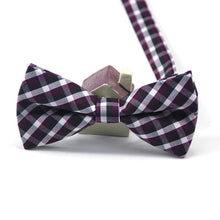 High Quality Plaid Cotton Bow Tie