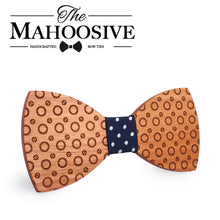 Polka Dot Wooden Bow Tie