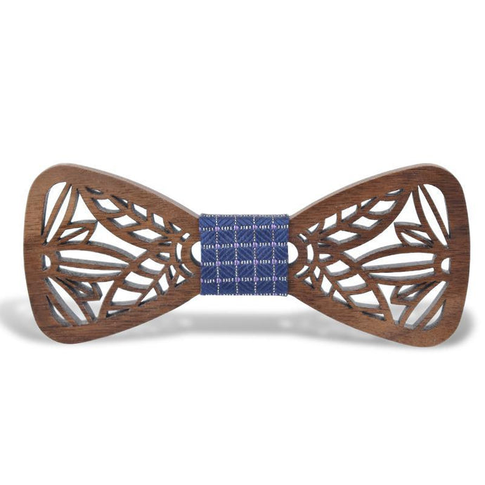 Unique Hollow Wood Bow Tie