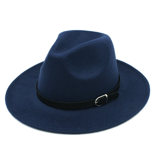 Solid Colour Wool Panama Hat