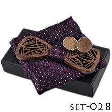 Unique Wooden Bow Tie Set