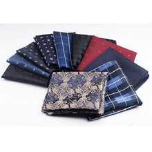 Plaid and Paisley Print Pocket Square