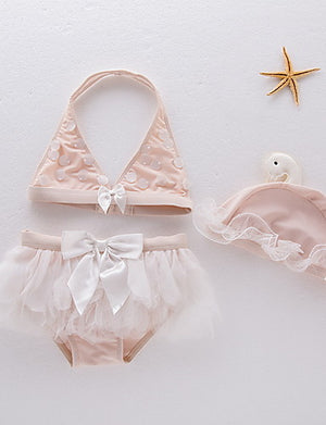 Toddler Bows and Tulle Bikini