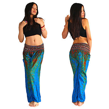 Peacock Harem Yoga Pants