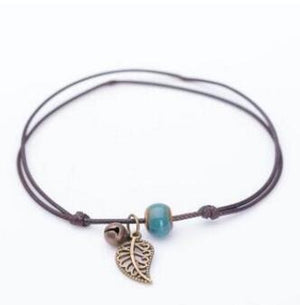 Earth Leaf Anklet