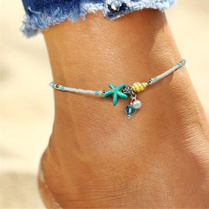 Starfish Bead Anklet