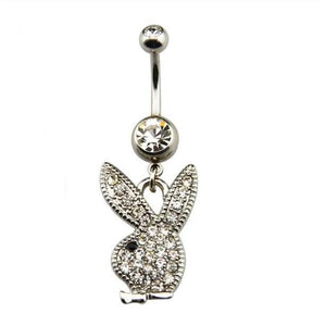 Snow Bunny Belly Button Ring