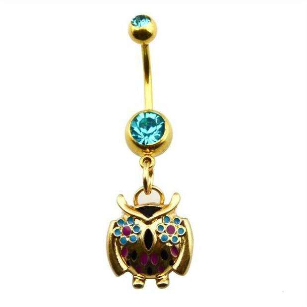 Alpha Owl Belly Button Ring